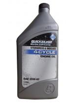 Масло для 4х такт двигателей QuickSilver 25w40, 1 литр