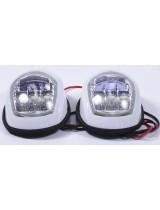 Навигационные огни LED, пара, белый корпус C91006PW-1