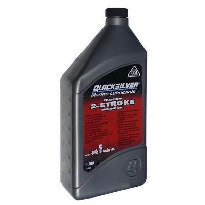 Масло для 2х такт двигателей QuickSilver Premium TC-W3 (Mercury), 1 литр
