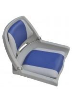 Сиденье складное пластиковое голубое 142