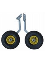 Транц колеса нерж большой диаметр