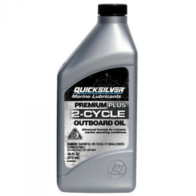 Масло для 2х такт двигателей QuickSilver Premium+ TC-W3 (Mercury), 1 литр