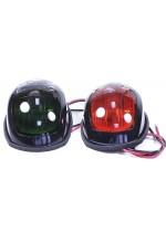 Огни навигационные габаритные зеленый и красный в черном корпусе
