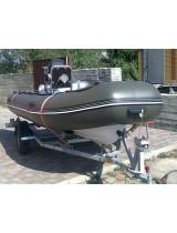 Лодка Риб 450 с пластиковым дном Captain + прицеп+ мебель
