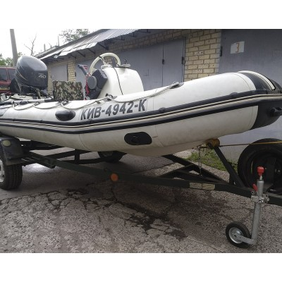 Лодка rib 410 Captian + Yamaha 40 л.с.+лафет